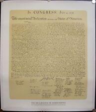 c. 1976 Declaration of Independence Poster Vintage 35 X 30