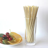 25xReusable Colorful Hard Plastic Drinking Stripe Straw Clean Wedding Party Pack