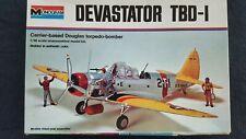 Monogram 1:48 Devastator TBD-1 Carrier based Douglas Torpedo Bomber Kit #7575