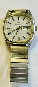 Vintage Men's Automatic Steel Hamilton Daydate Wristwatch, Running