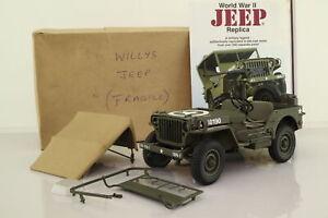 Danbury Mint 1:16 Scale; WW2 Jeep; US Army; Damaged Unboxed