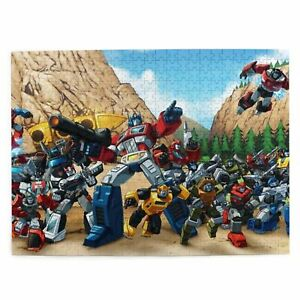 Transformers G1 Wooden Jigsaw Puzzle Adults Kids Gift Educational Game DIY