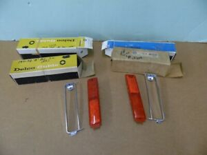 NOS PONTIAC 1971 1972 GRAND VILLE BONNEVILLE REAR SIDE MARKER LENSES & BZLS   15