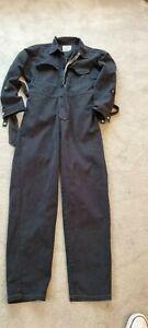 Black Denim Boilersuit Dungarees UK10