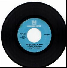 BOBBY SHERMAN CRIED LIKE A BABY/IS ANYBODY THERE LEAVING 45RPM VINYL