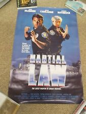 "MARTIAL LAW(1990)CYNTHIA ROTHROCK ORIGINAL ONE SHEET POSTER 27""BY41"""