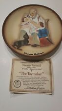 Norman Rockwell Authentic Limited Edition Plate Americana Toymaker Collectors