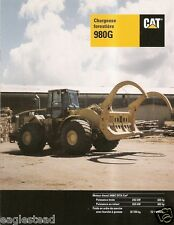 Equipment Brochure - Caterpillar - 980G Chargeuse Forestiere French c1998 (E2087