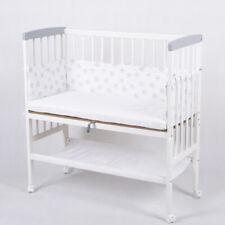 Beistellbett Babybett 90x40 höhenverstellbar mit Matratze Kinderbett weiß 2.Wahl