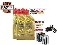 Kit/tagliando Harley/Davidson 883/Sportster/Softail Castrol 20W50 filtro olio