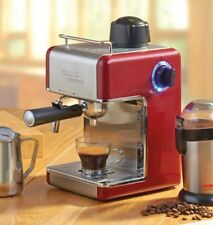 Espresso Coffee Machine New Cappuccino Latte Maker Red By Cooks Professional