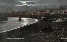 New York postcard Plattsburg from Weed's Park night scene ca 1909