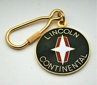 Lincoln Continental Automotive Car Metal & Enamel Key Chain FOB 1970's NOS New