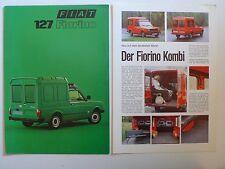 Prospekt Fiat 127 Fiorino, 6.1979, 6 Seiten, folder + 2 Seiten Kombi