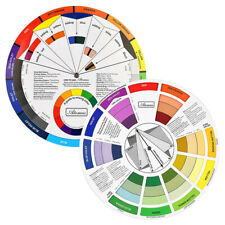 Color Mixing Guide Wheels-Paint Matching Pigment Blending Palettes Chart