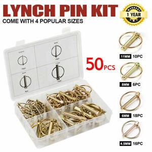 Lynch Linch Locking Pin Kit 50pc Trailer Farm Auto Parts Machinery