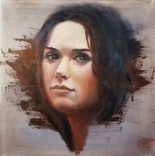"""Edith"" an original portrait painting"