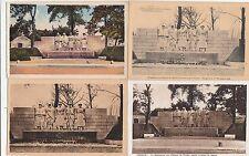 Lot 4 cartes postales anciennes GUERRE 14-18 WW1 VERDUN MONNUMENT AUX ENFANTS 1
