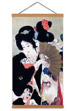 Matsuya Gofukuten Kimono Japanese Canvas Wall Art Print Poster with Hanger 24x12