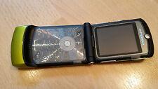 Pieghevole Per Cellulare Motorola RAZR v3 Lime Verde + simlockfrei + CON PELLICOLA + tabulazione