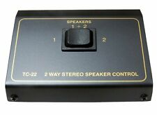 2 Way Pair Speaker Selector Switch Switcher Switching Box Splitter Combiner NEW
