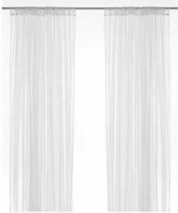 Ikea Lill Net Curtains 1 x Pair, 280 x 250 cm White
