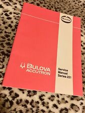 Original vintage Bulova Accutron tuning fork watch 221 Service Manual from 1976