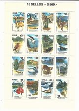 Chile: Scott 873 in complete sheet, thematic fauna, mint NH. CH25