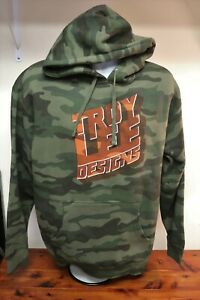 "Troy Lee Designs Signature ""Block Party Pullover"" Hoodie Forest Camo Mens Large"