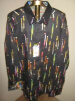 Robert Graham MANSART Sport Shirt 3-XL BLACK (NWT) & Socks