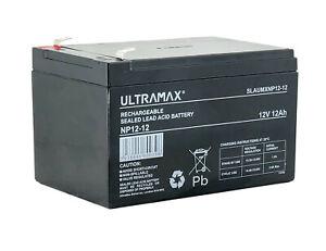 ULTRAMAX NP12-12, 12V 12Ah Sealed Lead Acid - AGM - VRLA Battery