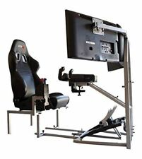 GTR Flight Simulator CRJ Model Gaming Chair flying rig Saitek pro flight yoke