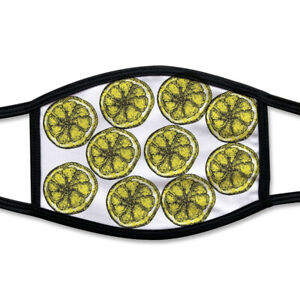 Lemon Face Mask Stone Roses Inspired Printed Face Mask Great Gift Unofficial