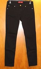 Zana Di Zanadi Size 11 Black Skinny Jeans Low Rise Stretch Denim VGUC