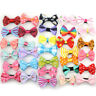 10PCS/Lot Kids Children Girls Mixed Bow Ribbon Hair Clip Duckbill Cloth Hairpins