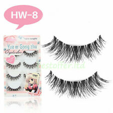 5Pairs Long Cross False Eyelashes Makeup Natural Fake Thick Black Eye Lashes USA