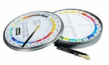 Pebeo Aquarelle Fine Watercolour Round Tin Set of 24 Half Pans & 1 Pocket Brush