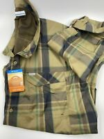 Columbia Mens Omni Shade Long Sleeve Green Plaid 4X/4TF