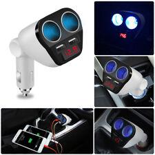 12V-24V Dual USB Car Cigarette Lighter Car Charger Power Adapter Socket Splitter