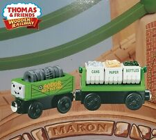 THOMAS & FRIENDS WOODEN RAILWAY~ RECYCLING CARS ~ LC99168 ~ NEW IN BOX RARE 2004