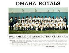 1972 OMAHA ROYALS 8X10 TEAM PHOTO KANSAS CITY BUSBY  BASEBALL NEBRASKA