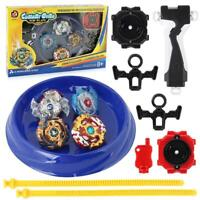 DE Metal Beyblade Burst Arena Set Gyro Fighting Gyroscope Launcher Spinning Toys