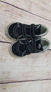 Vans off the Wall Toddler size 9 High Top Black/White Used Boy/Girl (unisex)