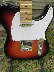E Gitarre von Jack & Danny Telecaster mit string through und Erle Body!