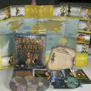 Lara Croft Tomb Raider Trilogy Limited Edition Big Box PC Game Map Certificate