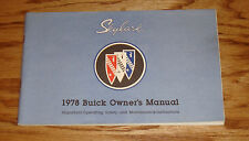 Original 1978 Buick Skylark Owners Operators Manual 78