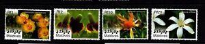 Maldives Islands  #2918-21  (2007 Flowers set) VFMNH CV $5.25