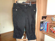 GALLIANO BLACK COTTON CASUAL BERMUDA SHORT PANTS-L,14-UK
