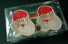 Boston Warehouse Candy Claus Serving Set 2 Bowls + Tray New