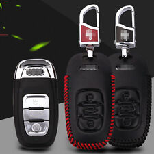 Leather Remote Smart Key Fob Case Holder Cover for Audi A4L/A6L/q3/q7/Q5/A7/a3
